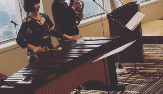 菊朋会東京支部総会にて〜マリンバ演奏〜